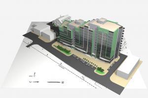 Административно-бытовое здание с торговыми помещениями по ул. Республики, 200 в г. Тюмень